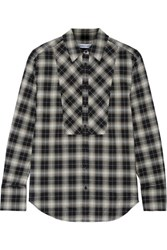 Elizabeth And James Rowan Plaid Woven Shirt Black
