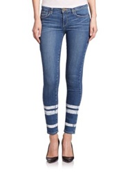 Paige Verdugo Painted Stripe Skinny Ankle Jeans