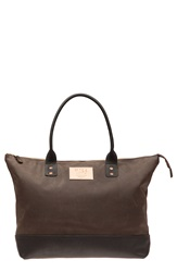 Will Leather Goods 'Getaway' Leather Tote Brown Black