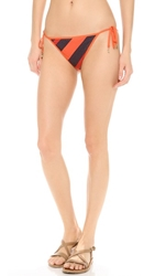 Marc By Marc Jacobs Cory Stripe Reversible Bikini Bottoms Black Iris