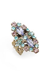 Sorrelli Women's Edelweiss Crystal Cocktail Ring Multi