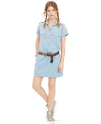 Denim And Supply Ralph Lauren Cotton Utility Dress Blue Wash