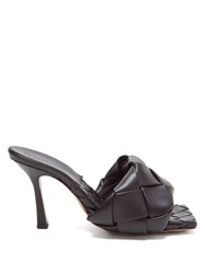 Bottega Veneta Bv Lido Intrecciato Woven Leather Sandals Black