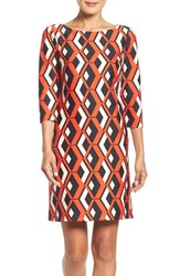 Taylor Dresses Women's Geo Print Shift Dress