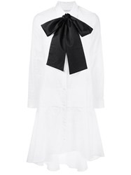 Osman Bow Detail Shirt Dress White