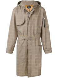 Paura Belted Check Trenchcoat Neutrals