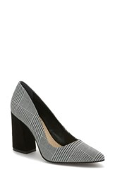 Vince Camuto Talise Pointy Toe Pump Black White Fabric
