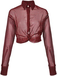 Haculla Plaid Blouse Red