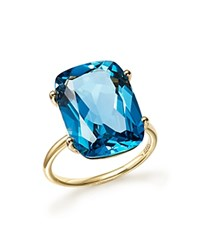 Bloomingdale's London Blue Topaz Statement Ring In 14K Yellow Gold Blue Gold