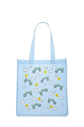 Forever 21 Rainbow Cat Graphic Tote Bag Seafoam Olive