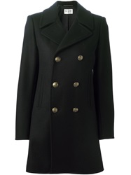 Saint Laurent 'Babydoll' Peacoat Black