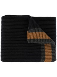 Dolce And Gabbana Cashmere Knitted Scarf Black
