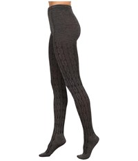 Hue Bold Cable Sweater Tights Filament Hose White