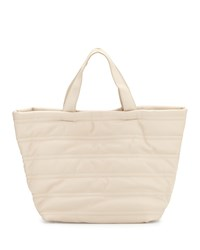 Neiman Marcus Quilted Large Tote Bag Almond Brown