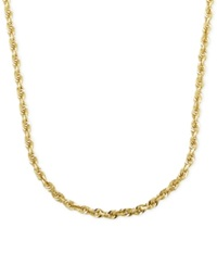 Macy's 2Mm Rope Chain 24' Necklace In 14K Gold