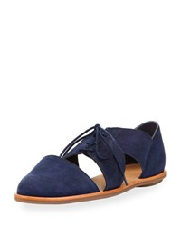 Loeffler Randall Willa Cutout Suede Oxford Blue
