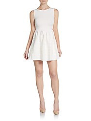 Saks Fifth Avenue Red Lace Overlay Fit And Flare Dress White