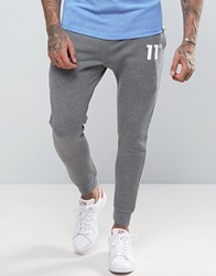 11 Degrees Skinny Joggers In Grey Grey