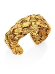Aurelie Bidermann Braided Cuff Bracelet Gold