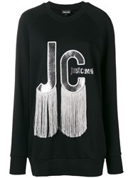 Just Cavalli Tassel Logo Sweatshirt Black