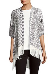 Lulla Collection By Bindya Fringed Open Front Cape Multi