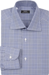 Fairfax Glenn Plaid Dress Shirt Navy