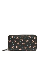 Givenchy Hibiscus Saffiano Leather Wallet Black Multi