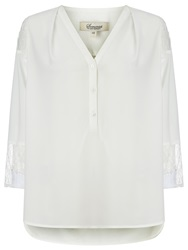 Alice By Temperley Somerset By Alice Temperley Lace Insert Blouse Cream