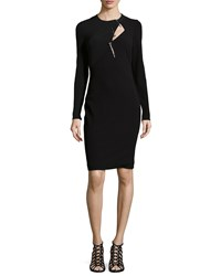 Versace Long Sleeve Wool Blend Sheath Women's