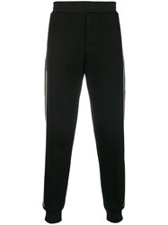 Alexander Mcqueen Skull And Rose Sweatpants Black
