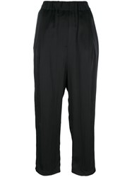 Damir Doma High Rise Cropped Trousers Black