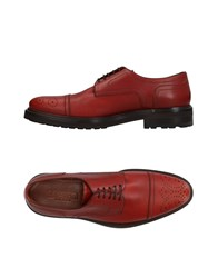 A.Testoni Footwear Lace Up Shoes Brick Red