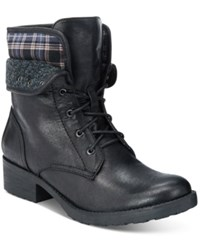Bare Traps Olympia Lace Up Booties Women's Shoes Black