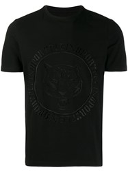Plein Sport Tiger Embroidered T Shirt Black