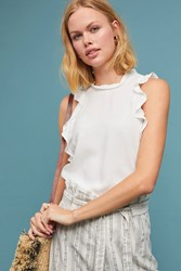 Cloth And Stone Ruffled Tank White