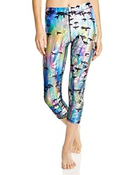 Zara Terez Iridescent Crows Capri Leggings
