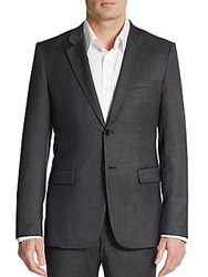 Theory Regular Fit Wool Sportcoat Charcoal