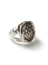Topman Antique Silver Look Wax Stamp Ring