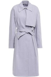 A.L.C. Woman Belted Woven Trench Coat Lilac