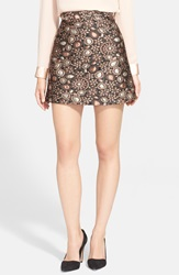 Alice Olivia 'Jessa' A Line Skirt Gold Multi