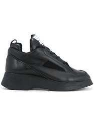 Julius Chunky Hi Top Trainers Men Leather 28 Black