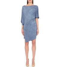 Anglomania Draped Jersey Dress Blue