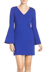 Cece Women's 'Lizzie' Bell Sleeve Shift Dress Sapphire Gem