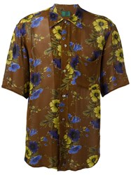 Jean Paul Gaultier Vintage Floral Print Shirt Brown