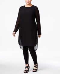Alfani Plus Size Illusion Tunic Only At Macy's Deep Black