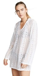Kos Resort Long Sleeve Lace Cover Up Dress White