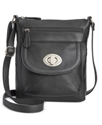 Giani Bernini Pebble Leather Crossbody Only At Macy's Black