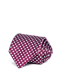 Bloomingdale's The Men's Store At Halo Dot Classic Tie Purple