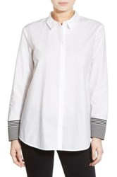 Trouve Trouve Envelope Back Poplin Shirt White