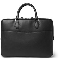 Dunhill Boston Full Grain Leather Briefcase Black